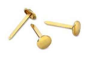 Encuadernadores de latón dorados