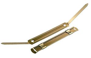 Encuadernadores fastener dorados