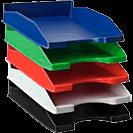 Accesorios de organización en escritorios de trabajo