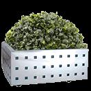 Jardineras con diseño cuadrado