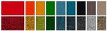 Carta de acabados, materiales y colores para sillas de oficina Actiu