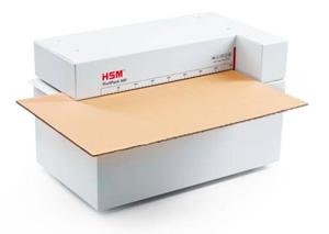 Perforadora plegadora para reciclar cartón en material de relleno, acolchado y embalaje HSM Profipack 400