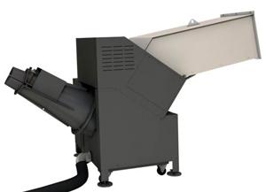 Máquina que vacia y compacta botellas y envases de plástico para reciclaje HSM FluidEx 600