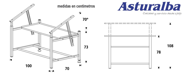 Mesas de dibujo t cnico rd de rocada mobiliario asturalba - Mesas de arquitectura ...