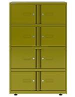 Taquilla con 8 compartimentos en verde amarillento Mimosa Bisley Essentials