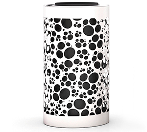 Papelera de diseño con tapa cenicero Impression Organic en blanco