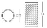 Papelera metálica con diseño de burbujas Impression Organic