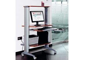 Muebles y mesas para ordenador y equipos inform ticos - Mesa de ordenador con ruedas ...