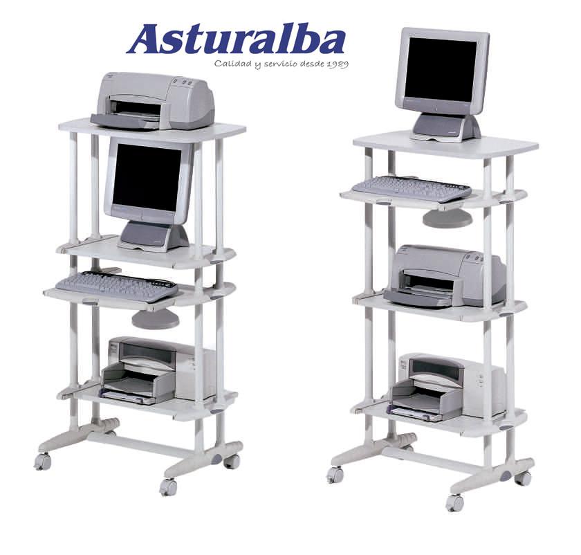 Muebles y mesas para ordenador y equipos inform ticos - Mesa para ordenador con ruedas ...