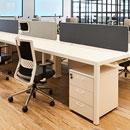 Cajonera blanca de madera Actiu para mesa de oficina