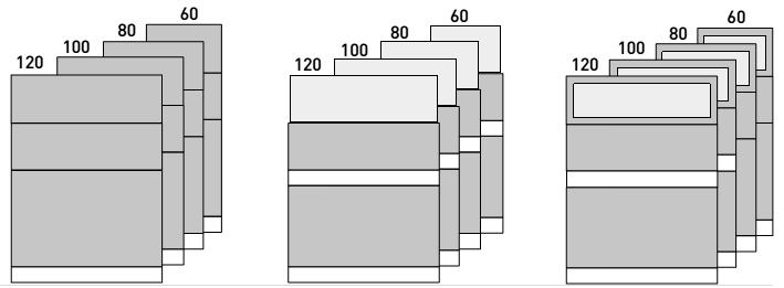 Modulos de divisorias D500 altura 169