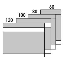 Modulos de divisorias D500 altura 107
