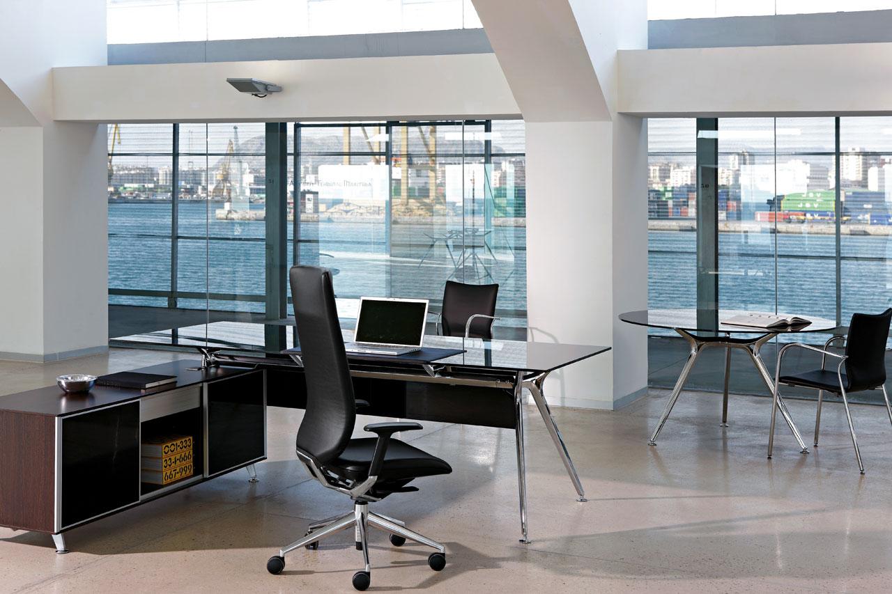 Arkitek actiu mesa de oficina de dise o elegante - Mesas de despacho de cristal ...
