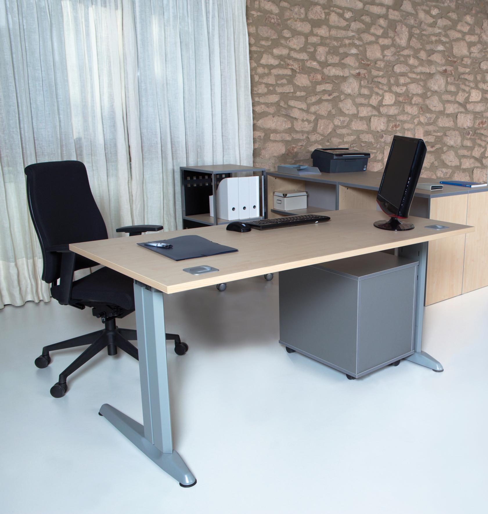 Mesas metal de rocada precios de escritorio para oficina for Precio mesa oficina