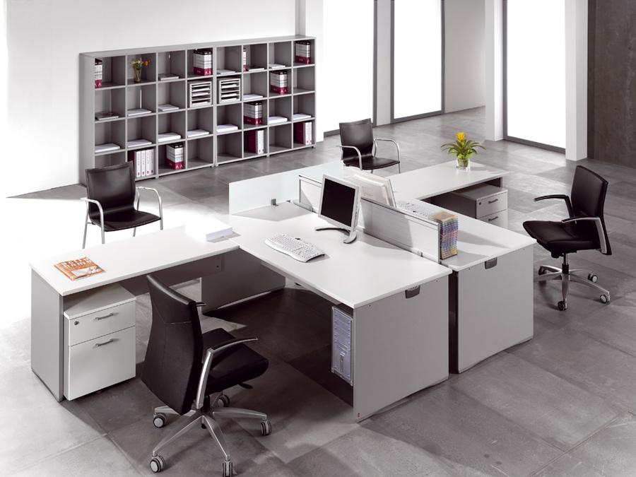 Ofimat actiu mesa para oficina y telecabinas call center for Tipos de muebles de oficina