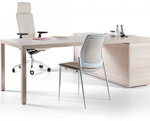 Prisma Actiu - Mesa de oficina de diseño nórdico y minimalista