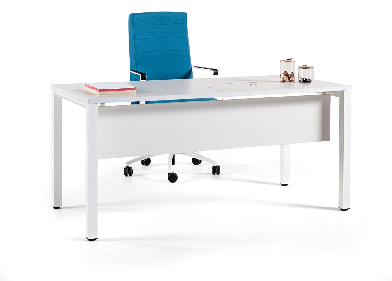 Vital pro actiu mesa de oficina con pata cuadrada for Mesas para oficina baratas