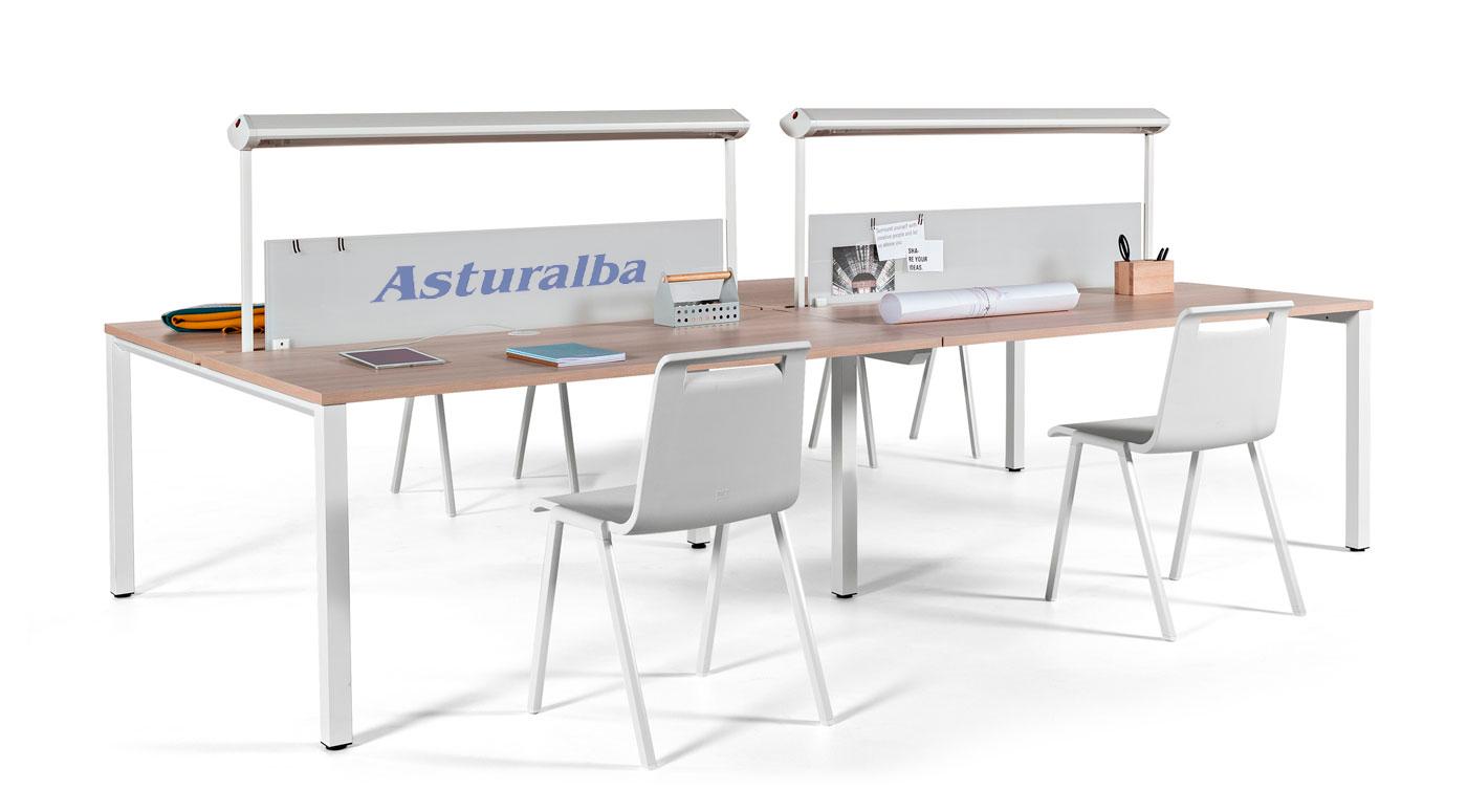 Vital pro actiu mesa de oficina con pata cuadrada for Patas mesa oficina