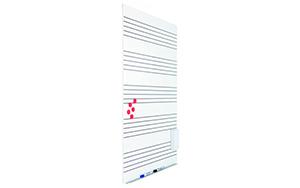 Pizarra modular blanca para rotulador con cinco pentagramas SkinMusic