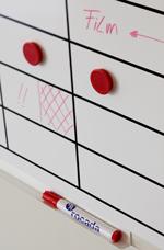 Planning de pared magnético para planificación de tareas con rotulador o imanes