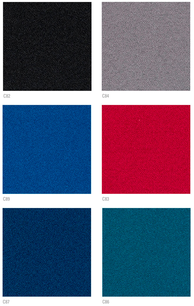 Colores de tapizado ignífugo para butaca