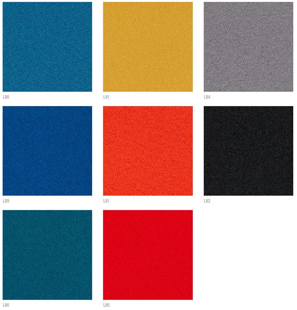 Colores de tapizado trevira para butaca