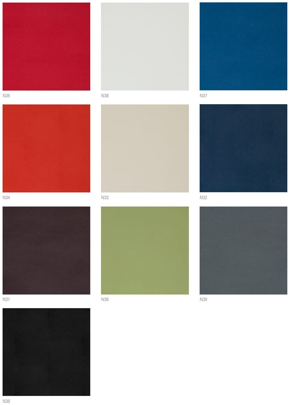 Colores de tapizado piel para butaca