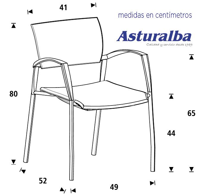 Rd905 silla confidente en tela ign fuga rocada - Medidas silla ...