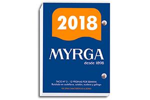 Taco de recambio para calendario de sobremesa 2017 Myrga