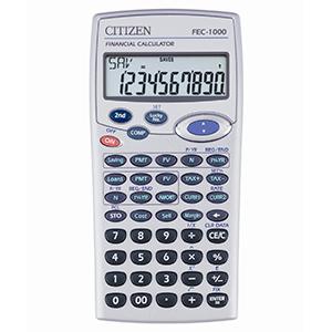 Calculadora financiera Citizen FEC-1000 de 10 dígitos