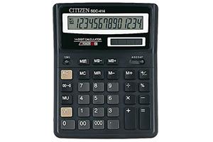 Calculadora de sobremesa barata Citizen SDC-414 II de 14 dígitos