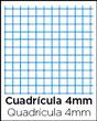 Cuadrícula de 4 milímetros