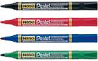 Rotuladores permanentes Pentel N850 en caja de 12 en colores azul, rojo, negro y verde